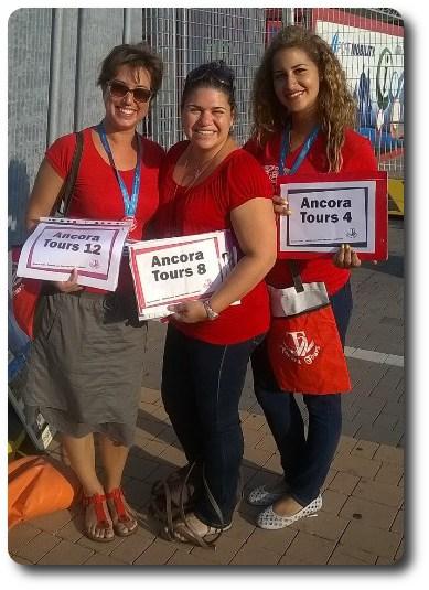 asistentes de Ancora Tours excursiones cruceros